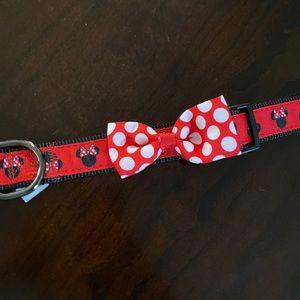 Minnie Mouse Bow Dog collar